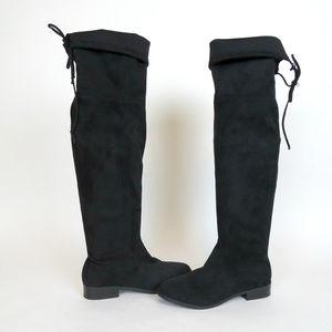 Steve Madden Orlene Over The Knee Black Boots 8.5